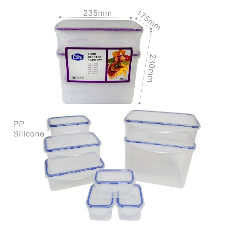 Plastic Large Stackable Airtight Food Containers Sets for Sale