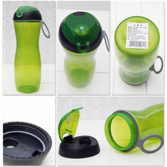 Portable PP Plastic Flip Top Water Bottle