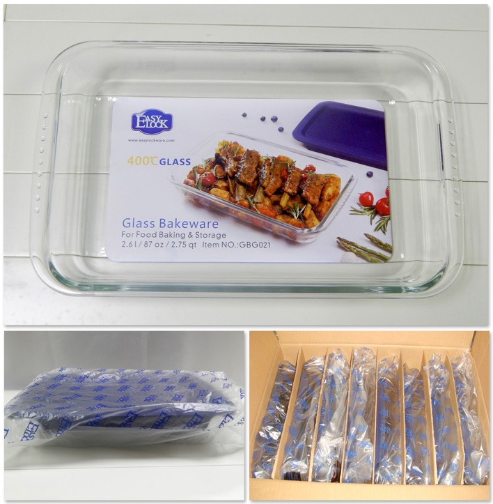Easylock Glass Baking Dishes with Lid Wholesale