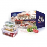 High-Borosilicate Glass Food Storage Container Set